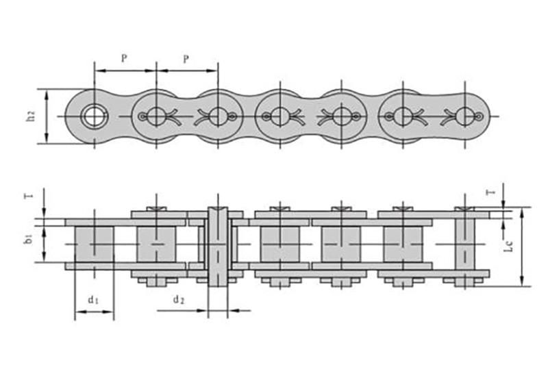 A系列开口销型短节距精密滚子链-1