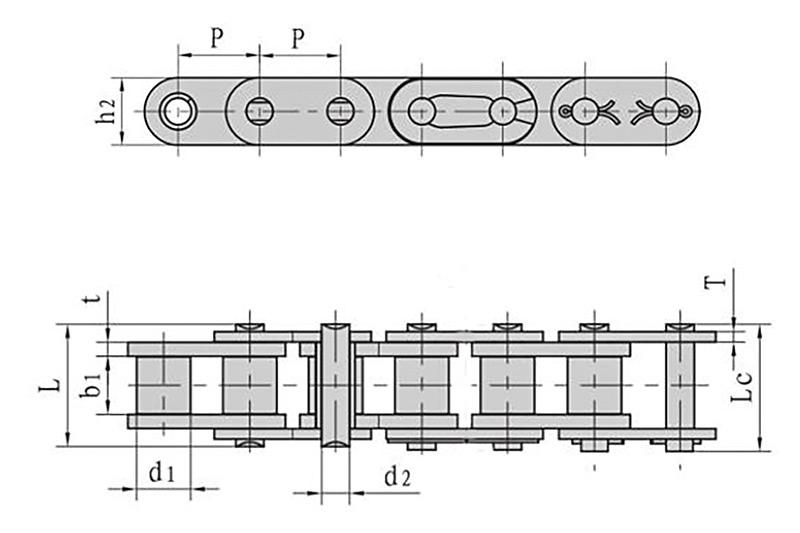 B系列直板滚子链-1
