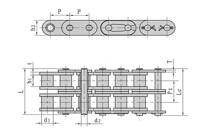 B系列直板滚子链-2