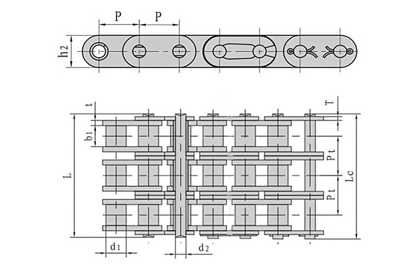 B系列直板滚子链-3