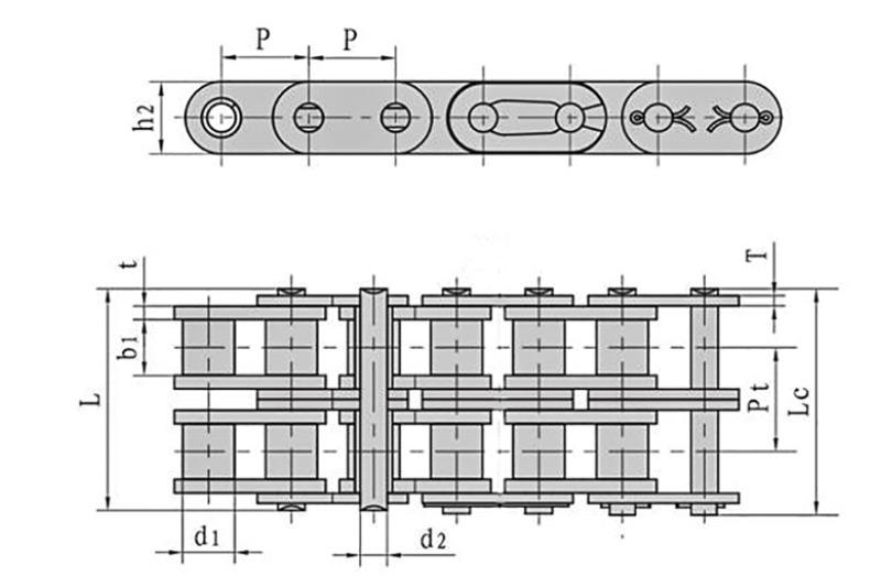A系列直板滚子链-2