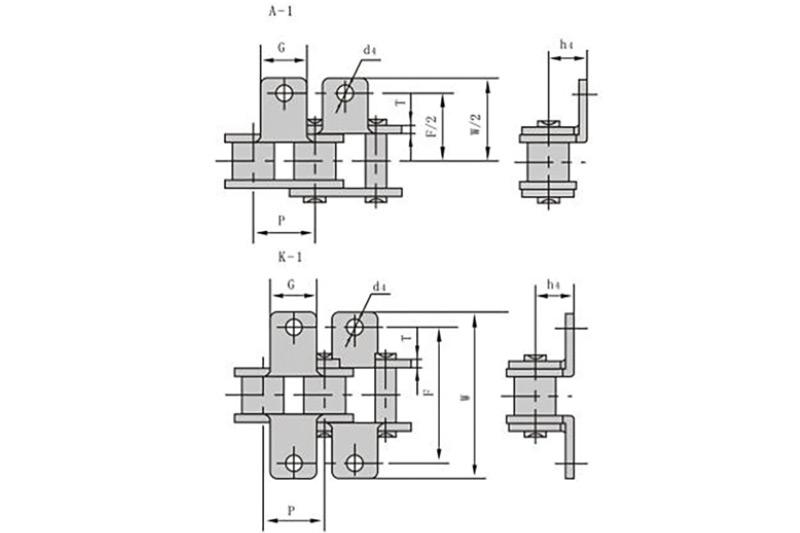 不锈钢短节距输送链附件 1