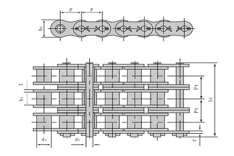 A系列开口销型短节距精密滚子链-3