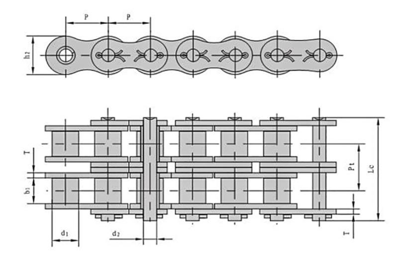 A系列开口销型短节距精密滚子链-2